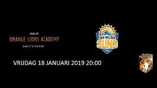 VRIJDAG 18 JANUARI 2019 20:00 Orange Lions Academy M21 1 Den Helder Suns M21 1