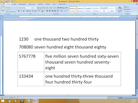 How To Convert Number Into Words In MS Word In Shortcut Key