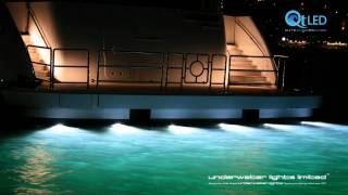 Underwater Lights Video Boats 02 HD
