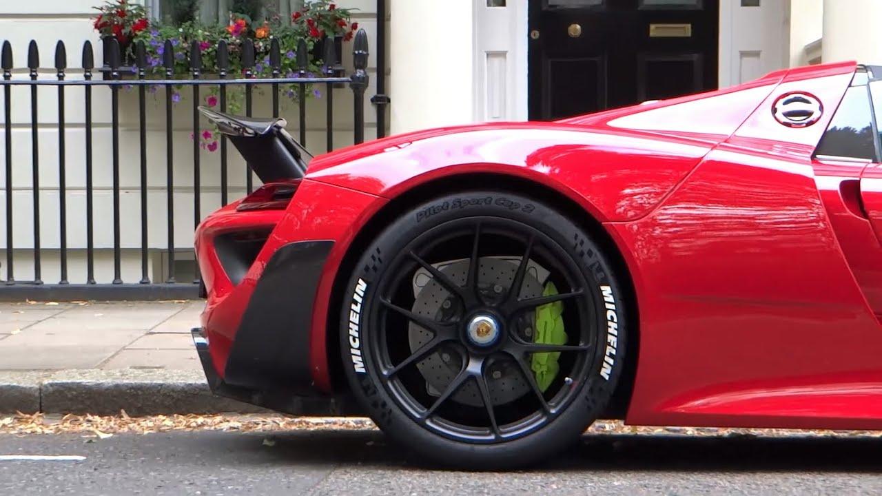 the best spec porsche 918 spyder ever startup driving in london youtube. Black Bedroom Furniture Sets. Home Design Ideas