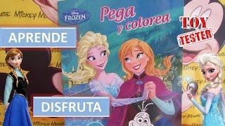 Frozen Cuento de actividades para niños de Elsa y Anna | Pega y colorea pegatinas de Frozen
