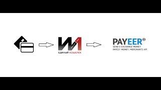 Пополнение кошелька Wallet One (W1) с карты и перевод денег на PAYEER кошелек.