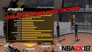 Nba 2k18 tips: how to create the best slasher on 2k18! | insane contact dunks and green lignt fades!