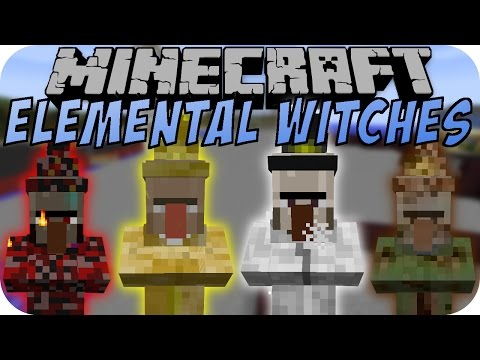Minecraft ELEMENTAL WITCH MOD