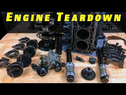 2.0 TSI Engine Bottom End Teardown ~Pistons, Balance Shafts Oil Pump