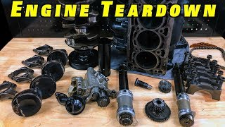 2.0 TSI Engine Bottom End Teardown ~Pistons, Balance Shafts Oil Pump