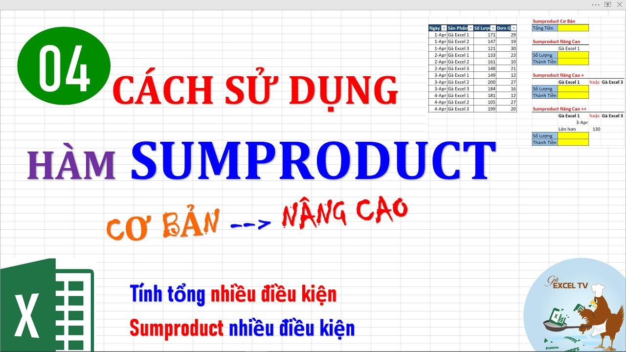 Cách sử dụng hàm Sumproduct trong Excel (cơ bản đến nâng cao)