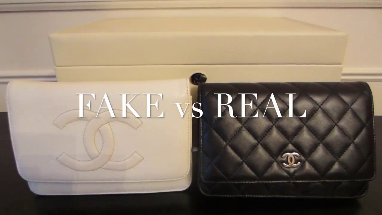 Fake Vs Real Chanel Woc Wallet On A Chain Handbag Comparison And Authentication