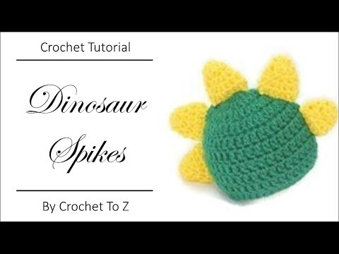 How To Make And Attach Crochet Dinosaur Spikes Youtube