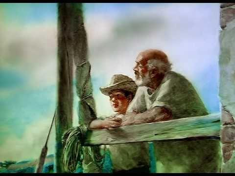 Мультфильм старик на море