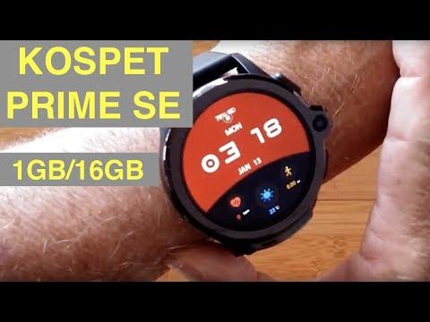 KOSPET PRIME SE 4G Android 7.1.1 Dual Camera IP67 Waterproof 1GB/16GB Smartwatch: Unbox & 1st Look