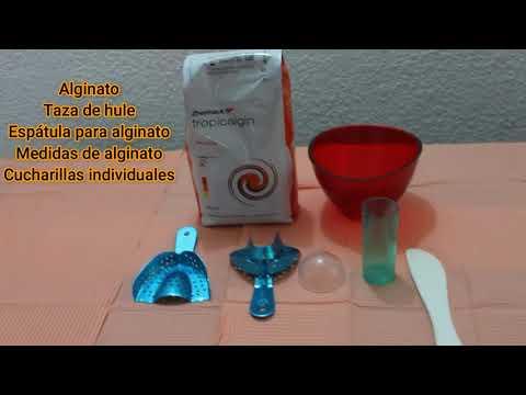 Manipulación del alginato