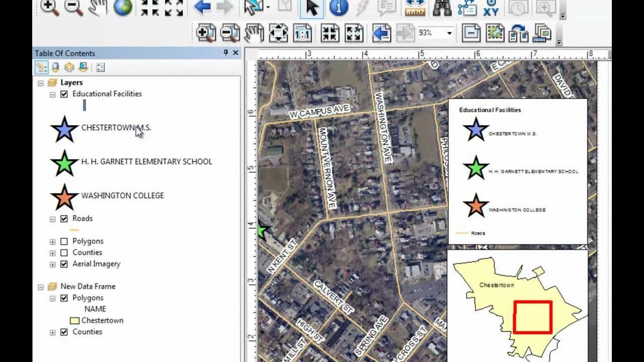ArcGIS 10 Map Layout Demo in ArcMap - GT-101 - Washington