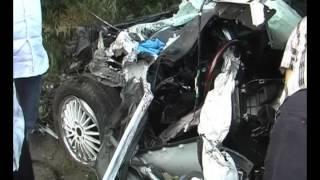 Один человек погиб при столкновении иномарки с самосвалом(, 2014-07-18T09:26:07.000Z)