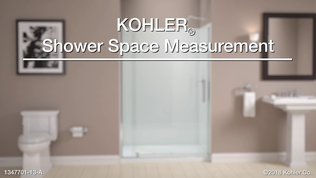 Measuring Your Bathroom for KOHLER Pivot Shower Doors - YouTube