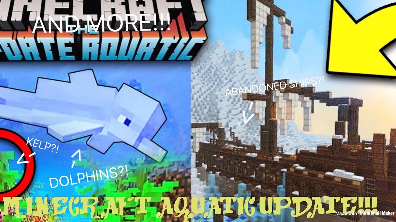 NEW MINECRAFT AQUATIC UPDATE!!! - YouTube