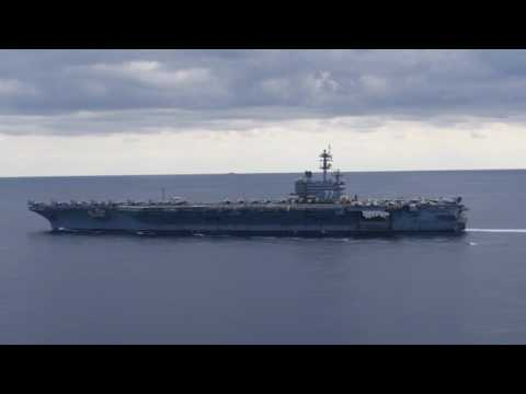 18 Feb 2017: USS George H.W. Bush Flight Ops