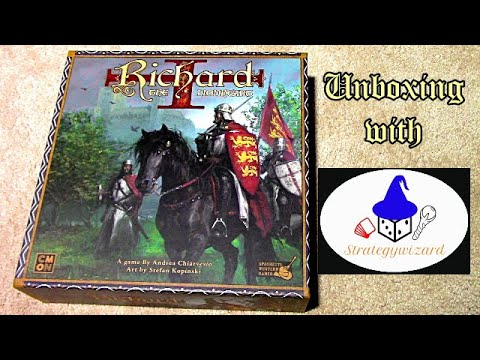 Richard The Lionheart Board Game Review Youtube