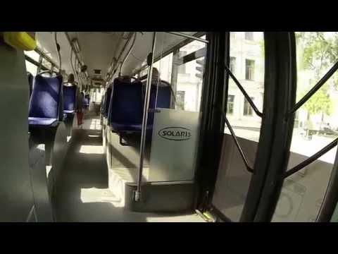 Inside Solaris Trollino 15 AC trolleybus Vilnius Lithuania