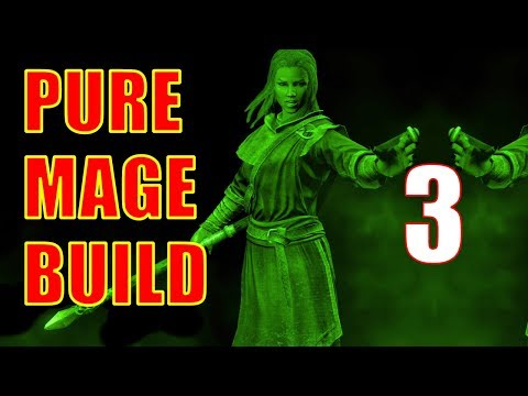 Skyrim Pure Mage Walkthrough NO WEAPONS NO ARMOR #3 - Embershard Mine, The Back Door Strategy