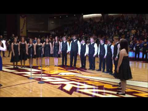Philo HS National Anthem at the Canton Charge - 12 19 15