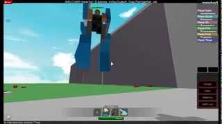 how to make a robot that u fly with in roblox