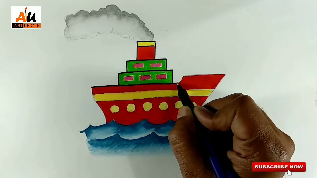 Ship Drawing For Kids Easy Ship Drawing For Kids Ship Drawing