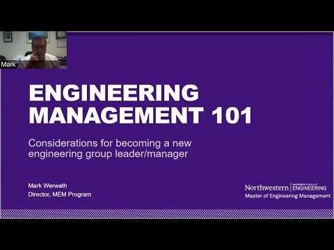 Northwestern MEM Webinar: Engineering Management 101