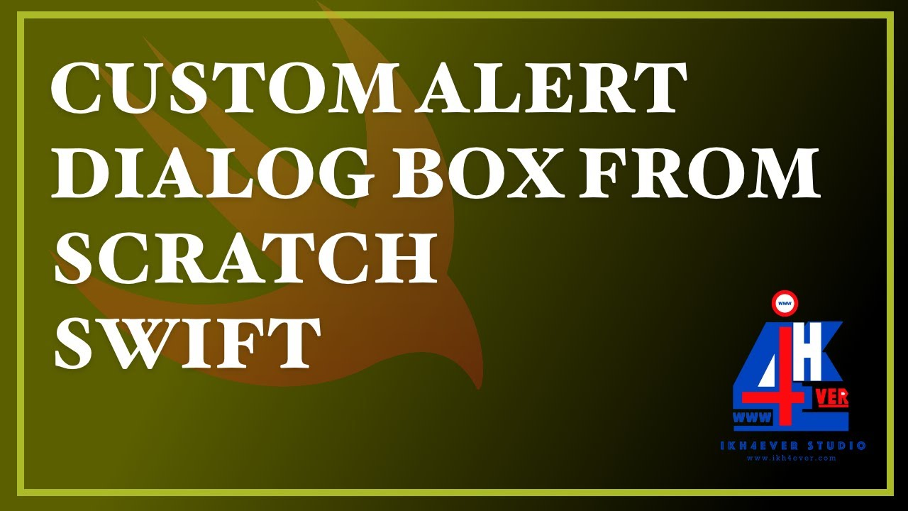 HOW TO BUILD CUSTOM ALERT DIALOG BOX FROM SCRATCH STEP BY STEP USING SWIFT iOS XCODE 11.4