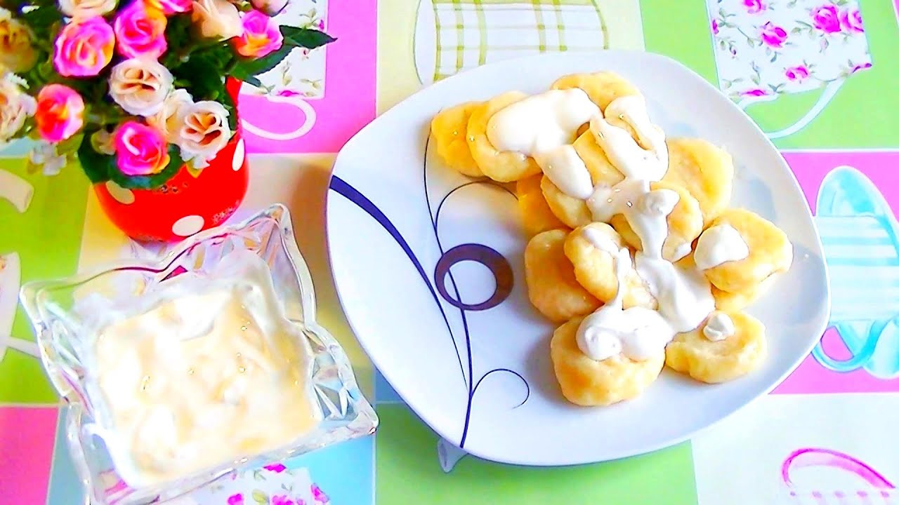 We make lazy dumplings with cottage cheese and manga