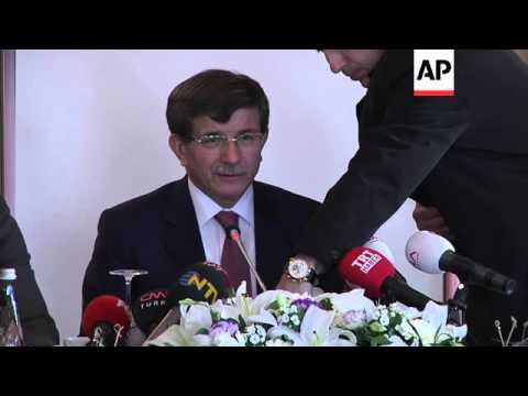 FM Davutoglu and SNC president Jarba on Aleppo violence