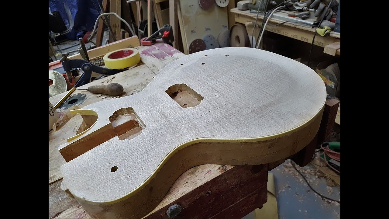 How to build a les paul hand carving the top youtube how to build a les paul hand carving the top pronofoot35fo Image collections