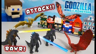 GODZILLA King of the Monsters Movie Figures Stop Motion City Battle!!