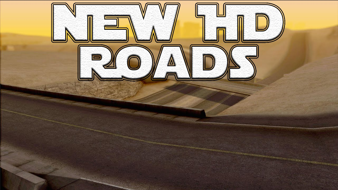 gta san andreas mods new hd roads texture sa 1080p youtube. Black Bedroom Furniture Sets. Home Design Ideas