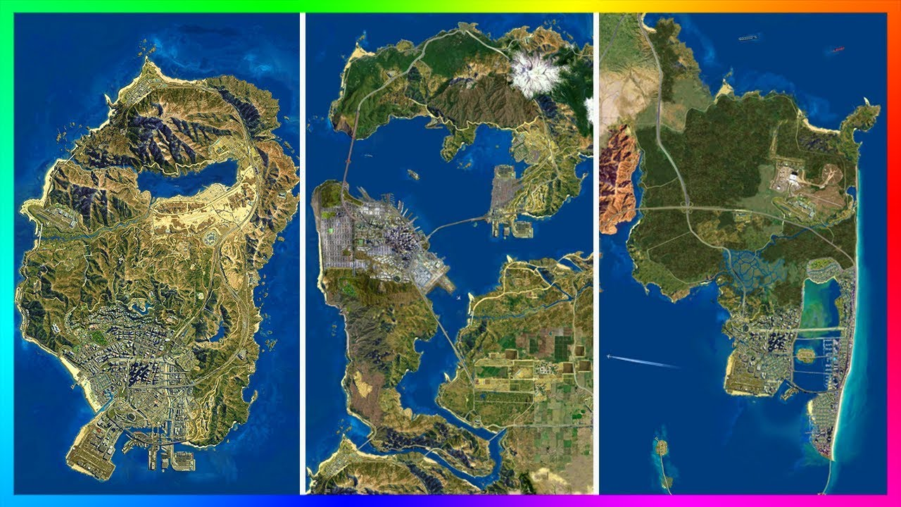 Map Of Los Santos Is The GTA 5 Map Too Small?   Ultimate Los Santos Map Comparison  Map Of Los Santos