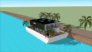 Floating house anime collection in Cambodia Key west afloat Floating house anime collections making