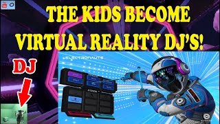 Electronauts lets you be a DJ game in virtual reality! Kids create some sick beats! TeamCC