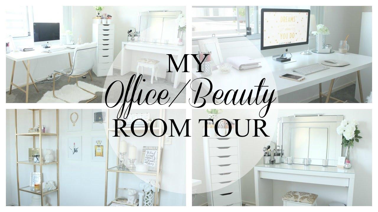 My Office Beauty Room Tour Leizel Cosgrove Youtube