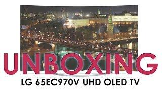 LG 65EC970V UHD OLED TV unboxing