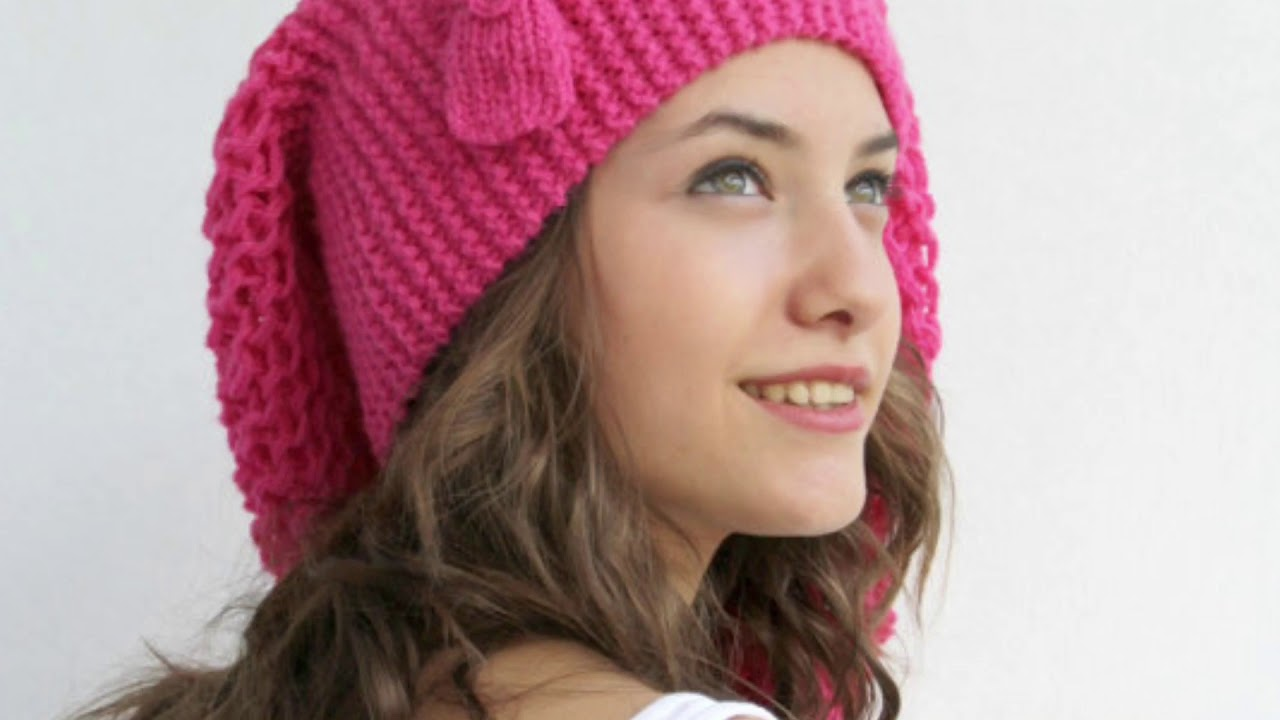 2019 Bayan örgü bere ve şapka modelleri