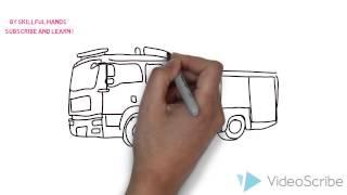 How to Draw a Fire engine / Как нарисовать Пожарную машину