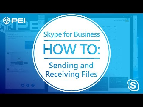 Microsoft Skype For Business | PEI - How To Send And Receive Files