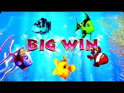 GoldFish 3 Slot Machine - Flurry of Bonuses and Big Win - House Money!