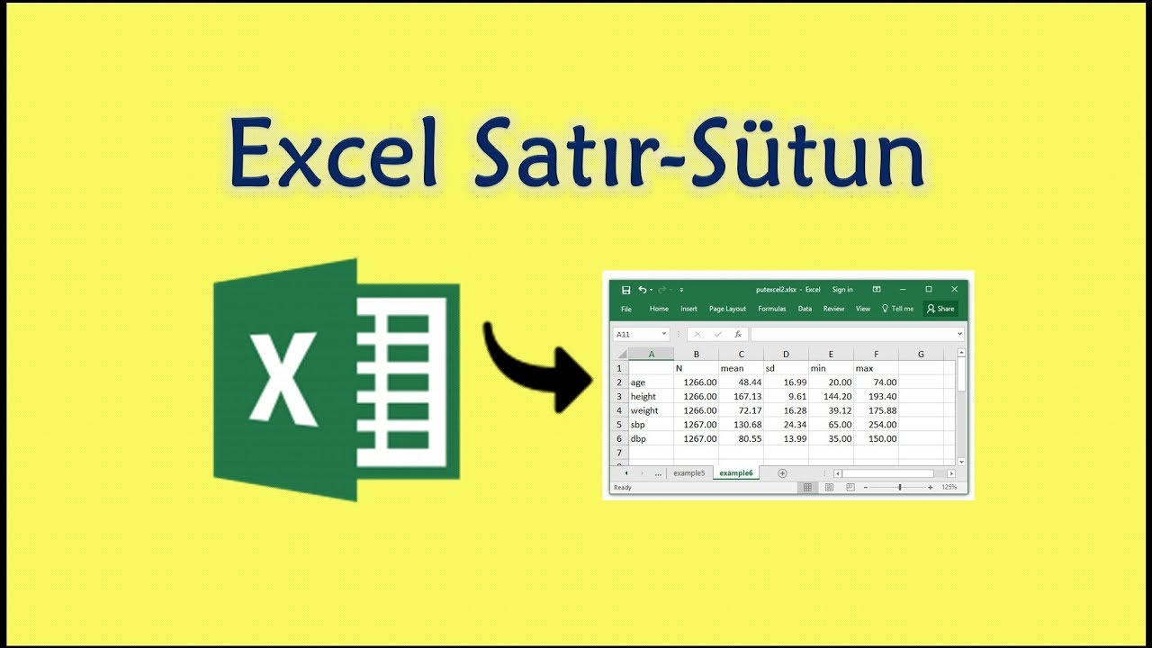 Satır ve Sütunun Yerlerini Değiştirme (İşlemi Tersine Çevir) /  Excel