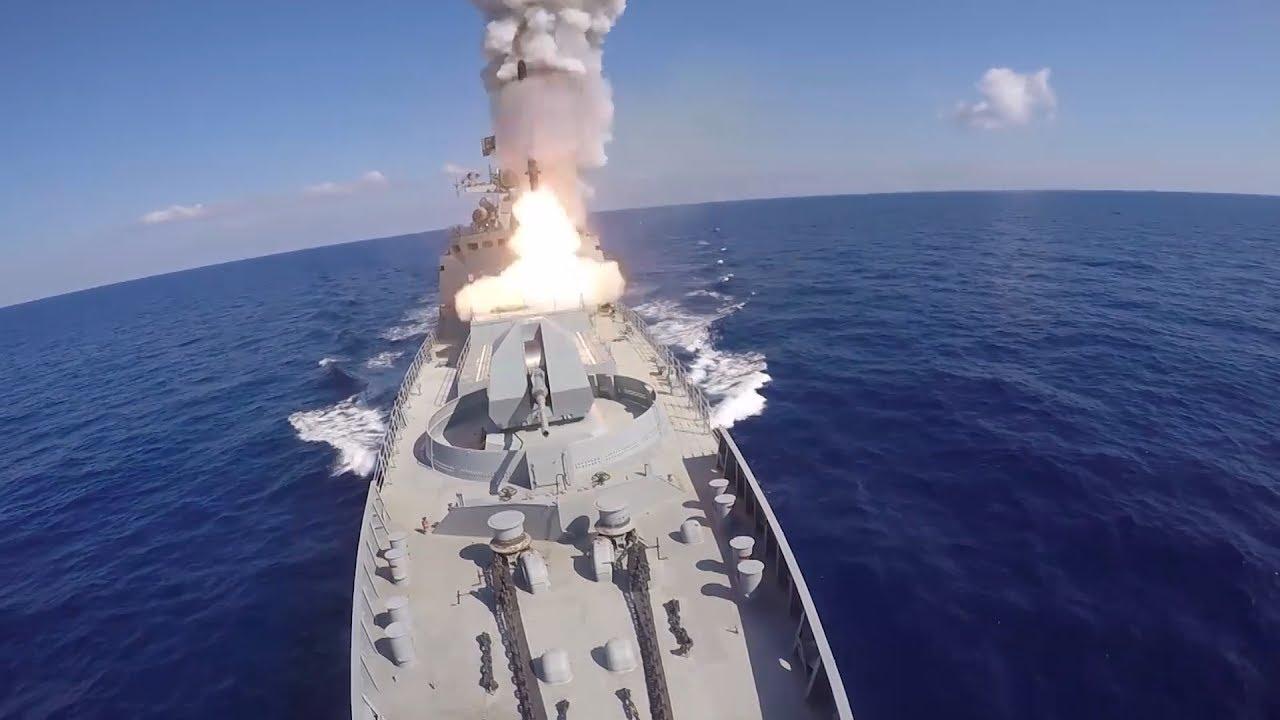 Минобороны показало новые удары крылатыми ракетами по целям в Сирии