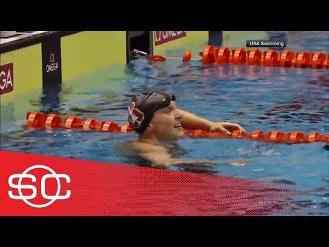 Katie Ledecky breaks own world record in 1500M freestyle in professional debut   SportsCenter   ESPN
