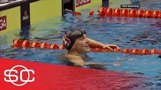 Katie Ledecky breaks own world record in 1500M freestyle in professional debut | SportsCenter | ESPN