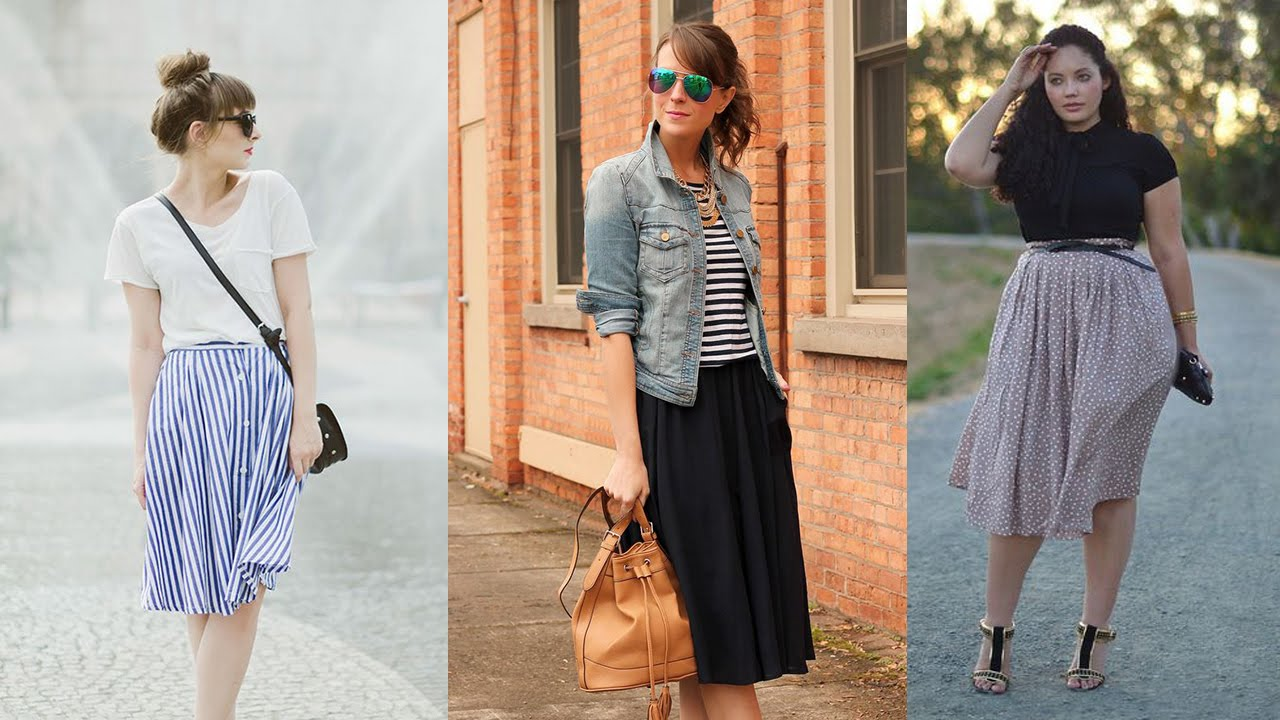20 Style Tips On How To Wear Midi Skirts This Summer - YouTube