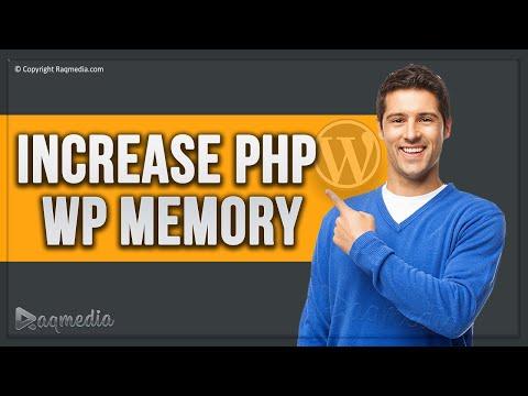 WordPress increase php limit