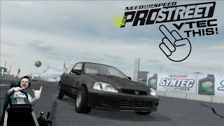 Дрэг-VTEC Need for Speed: ProStreet на руле Fanatec CSL Elite